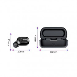 Casti wireless waterproof cu doc incarcare, Baseus Encok W01 , bluetooth 5.0 , negre NGW01-01