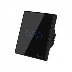 Comutator luminos tactil WiFi + RF 433 Sonoff T3 EU TX (3 canale)