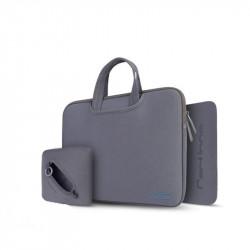 Geantă pentru laptop 13,3 + husa pentru încărcător și mouse pad Cartinoe Breath Series Grey
