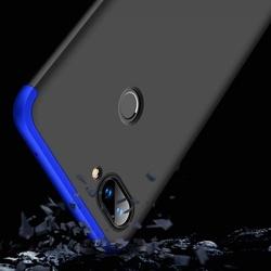 Husa 360° Matte Full Protection Gema Mixt pentru Xiaomi Mi 8 Lite , negru-albastru