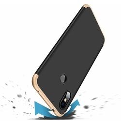Husa 360° Matte Full Protection Gema Mixt pentru Xiaomi Redmi Note 6 Pro (fata + spate ) , negru-auriu