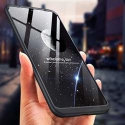 Husa 360° Matte Full Protection Gema Mixt pentru Xiaomi Redmi Note 6 Pro (fata + spate ) , negru