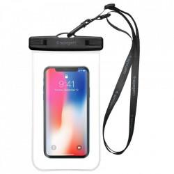 Husa Impermeabila Spigen A600 pentru Telefoane 7.0 inch - Negru/Transparent