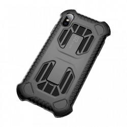 Husa protectie cu gauri pentru ventilatie, Baseus Cold Front, pentru iPhone XS Max, negru