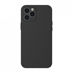 Husa telefon Baseus Liquid Silica Gel Case Flexible iPhone 12 PRO Max , black (WIAPIPH67N-YT01)