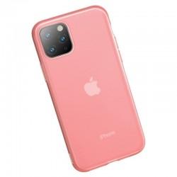 Husa telefon din gel Baseus Jelly pentru iPhone 11 Pro rosu , transparent