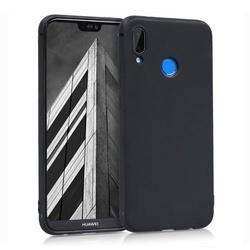 Husa telefon din silicon flexibil cu interior din material impotriva zgarieturilor , Gema Mixt pentru Huawei P20 Lite , negru