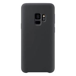 Husa telefon din silicon flexibil cu interior din material impotriva zgarieturilor , Gema Mixt pentru Samsung galaxy S9 Plus , negru