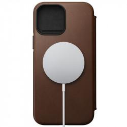 Husa telefon Nomad MagSafe Rugged Folio, brown - iPhone 12/12 Pro