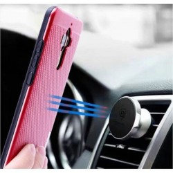 Husa telefon Puky Carbon cu placuta metalica incorporata pentru Xiaomi Redmi 4x , gri