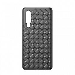 Husa telefon TPU cu textura impletita, Baseus BV Weaving Case, pentru Huawei P30, negru
