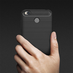 Husa telefon TPU model carbon , Gema Mixt pentru Xiaomi Mi A2 / Mi 6X , neagra