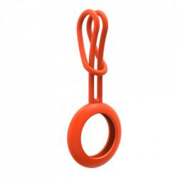 Husa TYPEC tip breloc din silicon pentru Apple AirTag orange