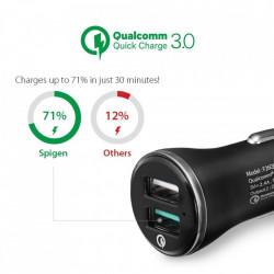 Incarcator auto Spigen F27QC cu doua porturi si functie QuickCharge 3.0