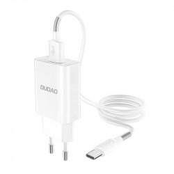 Incarcator DUDAO 2x USB 5V/2.4A QuickCharge 3.0 + cablu Type-C
