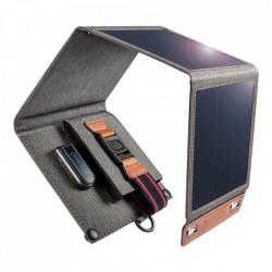 Incarcator solar pliabil Choetech 14W cu panou solar USB 5V / 2.4A gri (SC004)