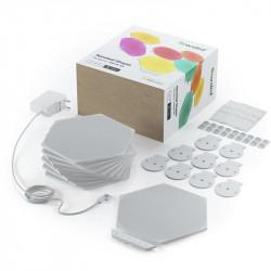 Kit 9 panouri luminoase modulare inteligente Nanoleaf Shapes Hexagons Starter Kit, LED RGBW, Wi-Fi, compatibil iOS/Android