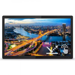 "Monitor LED IPS Philips 23.8"", Touchscreen, Full HD, DisplayPort, Vesa, Negru"