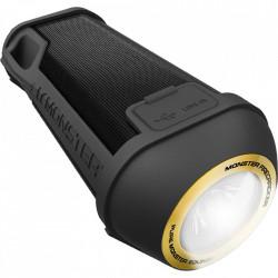 MONSTER Boxa Portabila Wireless Bluetooth Firecraker High Definition, Cablu Auxiliar 3.5 mm, LED 5000K, Speaker, Negru