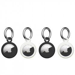 Pachet 4 x huse Airtag U by UAG Dot black / white - Apple AirTag