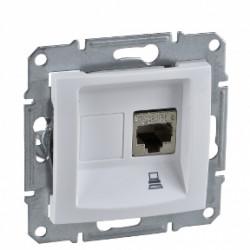 Priza UTP RJ45 simpla, alb Sedna Schneider SDN4300121 - 1 modul