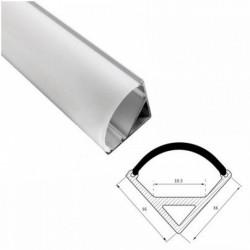 Profil banda LED, montaj pe colt, aluminiu, 1 m, 16x16 mm
