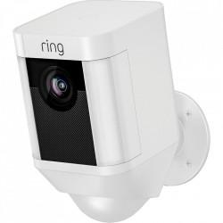 RING Floodlight Cam, Camera impotriva inundatiilor, Senzori De Miscare, Sunet Bidirectional, Alarma, Vedere Nocturna, Video HD 1080p, Alb