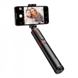 Selfie stick - trepied Bluetooth Baseus (negru și roșu)
