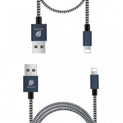 Set 2 cabluri de date si incarcare Dux Ducis K Two , 1 x Lightning 100 cm 5V 2A si 1 x Lightning 20 cm5 5V 3A , albastru