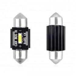 Set 2 x LED CANBUS 1 SMD UltraBright 1860 Festoon 31mm White 12V/24V