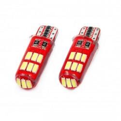 Set 2 x LED CANBUS 15SMD 4014 T10e (W5W) SILCA White 12V