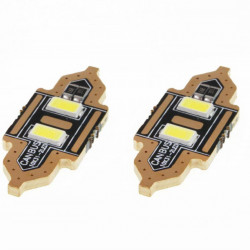 Set 2 x LED STANDARD Festoon C5W 2xSMD 5730 12V 31mm