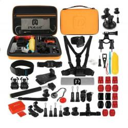 Set de 53 de accesorii Puluz pentru camerele de sport PKT26 - portocaliu
