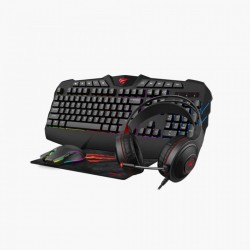 Set gaming tastatura + mouse + casti + mouse pad Havit KB675CM