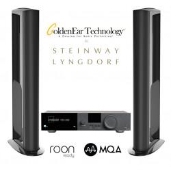 Sistem cu boxe Goldenear Triton Reference si amplificator 2x200W Lyngdorf TDAI-3400, Roon ready, MQA, Tidal Connect