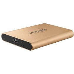 SSD extern Samsung T5 portabil, 1 TB, USB 3.1, Auriu
