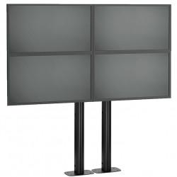 Stand VideoWALL Vogel's cu baza fixa montat pe podea 2x2