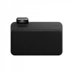 Statie de incarcare cu suprafata din piele naturala NOMAD Wireless Base Station Apple Watch Stand V2 Negru