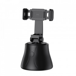 Suport pentru telefon, portabil cu trepied rotativ Baseus 360 pentru fotografii YouTube TikTok negru (SUYT-B01)