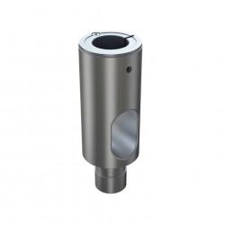 Teava extensie Multibrackets 5402 pentru suporturile cu gas, 10 cm, Silver