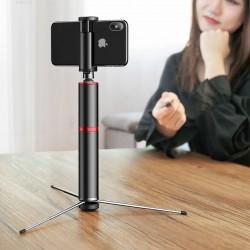 Trepied + Selfie stick cu bluetooth Baseus , gri