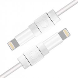 6 protectii pentru cablu original Apple. Ugreen, alb (40705)