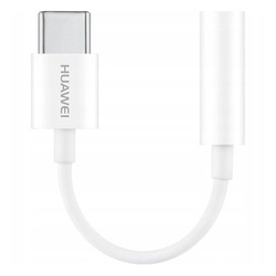 Adaptor USB-C la Jack 3.5mm audio, Huawei CM20, alb