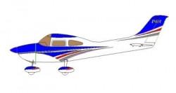 Aeromodel Pilot RC Skyline 182 100cc 3810mm - albastru