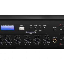Amplificator 350W cu mixer DSPPA MP1010U, 6 zone, USB/SD/Tuner, 4Mic si 3AUX, 100V & 4-16 Ohmi,
