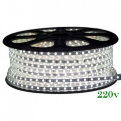 Banda LED 220V 4100K 12W/m, Ip65, 120Led/m, 3014
