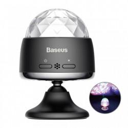 Bec rotativ disco LED RGB cu acumulator, autonomie 4 ore , Baseus Magic Ball , negru