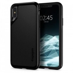 Bumper Spigen iPhone X, iPhone 10 Neo Hybrid - Jet Black
