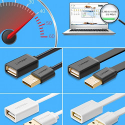 Cablu adaptor Ugreen USB la USB (mama-tata) - 1m negru