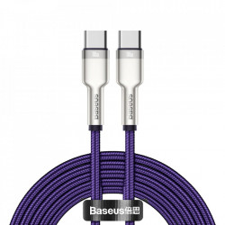 Cablu de date Baseus Cafule Series Metal Data USB Type C - USB Typ C Power Delivery 100 W (20 V / 5 A) 2 m violet (CATJK-D05)